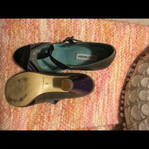 Steve Madden Mary Janes in Black/Gray/Purple